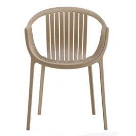 Pedrali Krémová plastová židle Tatami 306