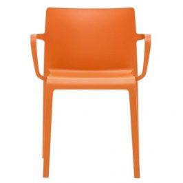 Pedrali Oranžová plastová židle Volt 675
