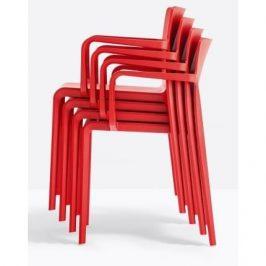 Pedrali Červená plastová židle Volt 675