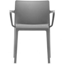 Pedrali Tmavě šedá plastová židle Volt 675