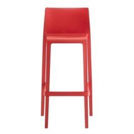 Pedrali Červená plastová barová židle Volt 678