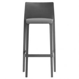 Pedrali Tmavě šedá plastová barová židle Volt 678