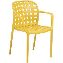 Žlutá plastová zahradní židle LaForma Onha