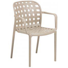 Béžová zahradní plastová židle LaForma Onha