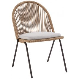 Béžová zahradní židle s výpletem LaForma Stad