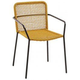 Žlutá pletená zahradní židle LaForma Boomer
