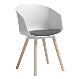 SCANDI Bílošedá čalouněná jídelní židle Durana