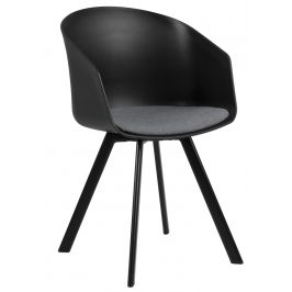 SCANDI Černošedá čalouněná jídelní židle Durana