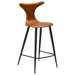 Hnědá čalouněná barová židle DAN-FORM Dolphin 97 cm