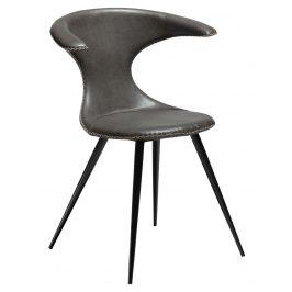 DAN-FORM Vintage šedá čalouněná židle DanForm Flair