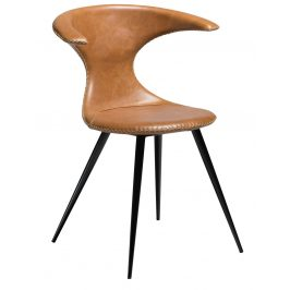 DAN-FORM Hnědá kožená židle DanForm Flair