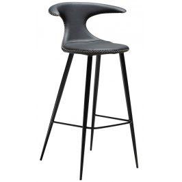 Černá kožená barová židle DAN-FORM Flair, 101 cm