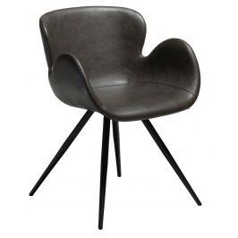 DAN-FORM Vintage hnědá čalouněná židle DanForm Gaia