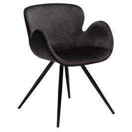 DAN-FORM Černá sametová židle DanForm Gaia