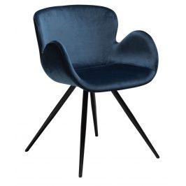 DAN-FORM Modrá sametová židle DanForm Gaia