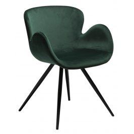 DAN-FORM Zelená sametová židle DanForm Gaia