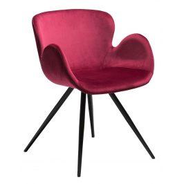 DAN-FORM Růžová sametová židle DanForm Gaia