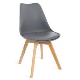 Culty Šedá plastová jídelní židle Eyva