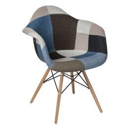 Culty Modrá patchwork čalouněná jídelní židle DAR