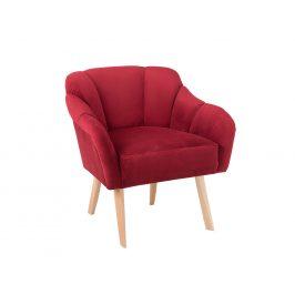 Nordic Design Červené sametové křeslo Pome