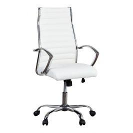 Moebel Living Bílá kancelářská židle Banks