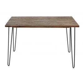 Moebel Living Masivní akátový jídelní stůl Remus 120x80 cm