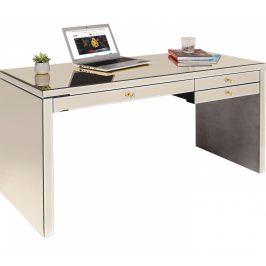 KARE DESIGN Zrcadlový pracovní stůl Luxury Champagne 140×60 cm