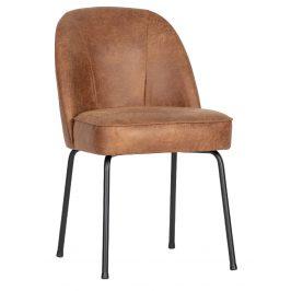 Hoorns Koňakově hnědá kožená jídelní židle Tergi