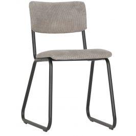 Hoorns Šedá manšestrová jídelní židle Gill