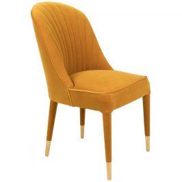 Žlutá sametová jídelní židle Bold Monkey Give Me More