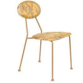 Zlatá čalouněná jídelní židle se vzorem Bold Monkey Kiss The Froggy