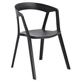 Culty Gold Černá plastová jídelní židle Cordelia