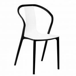 Culty Bílá plastová jídelní židle Ollie