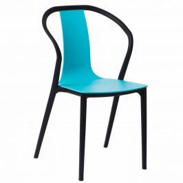 Culty Modrá plastová jídelní židle Ollie