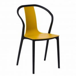 Culty Žlutá plastová jídelní židle Ollie