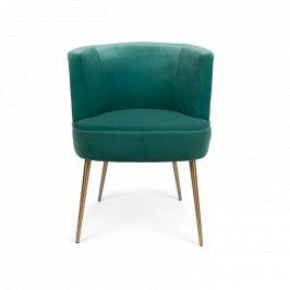 Zelená sametová židle Bold Monkey Such A Stud