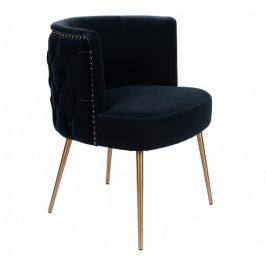 Tmavě modrá sametová židle Bold Monkey Such A Stud