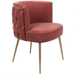 Růžová sametová židle Bold Monkey Such A Stud