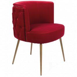 Červená sametová židle Bold Monkey Such A Stud