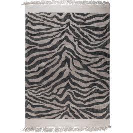 Černý koberec s třásněmi Bold Monkey Zebra Friendly 200x300 cm