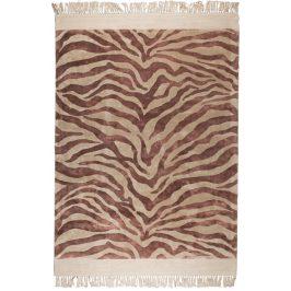 Béžový koberec s třásněmi Bold Monkey Zebra Friendly 200x300 cm