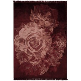 Růžový koberec s motivem růží Bold Monkey Stitchy Roses 170x240 cm