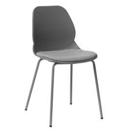 Culty Šedá kovová jídelní židle Malia
