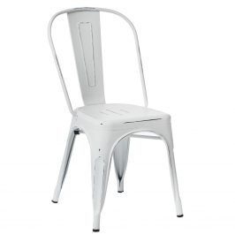 Culty Bílá jídelní židle Tolix s patinou