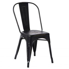 Culty Černá jídelní židle Tolix s patinou