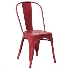 Culty Červená jídelní židle Tolix s patinou