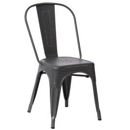 Culty Šedá jídelní židle Tolix s patinou