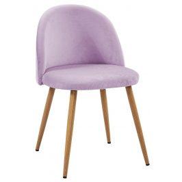Villa Style Fialová sametová židle Finest II s prošíváním