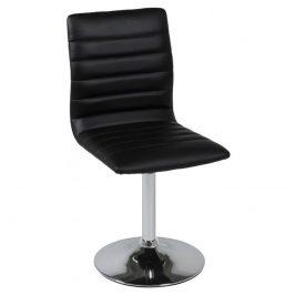 SCANDI Černá jídelní židle Paula z ekokůže