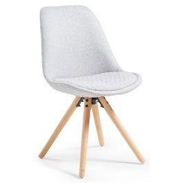 Světle šedá čalouněná jídelní židle LaForma Lars
